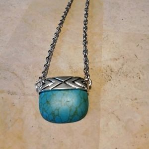 Plunder necklace/ Torquois crackle stone